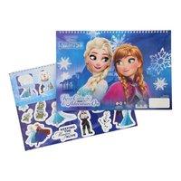 Frozen Schetsboek met Stencils & Stickers