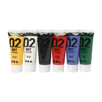 Acrylverf - Verschillende kleuren, 02 - Matt, 6x20ml