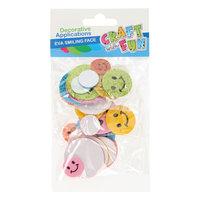 Foam Glitter Stickers Lachgezicht