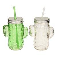 Drinkglas met Rietje Cactus