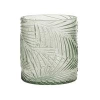 Waxinelichthouder Bladpatroon Lichtgroen, 9cm