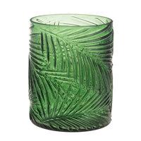 Waxinelichthouder Bladpatroon Groen, 13cm