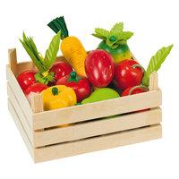 Groenten en Fruit in Kist, 10dlg.