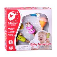 Classic World Houten Muziekset Baby, 5dlg.