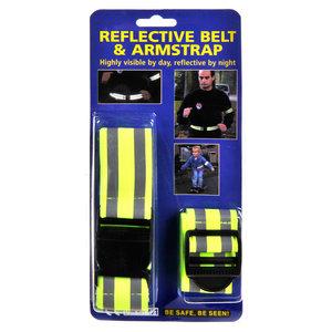 Reflecterende Riemband + Armband