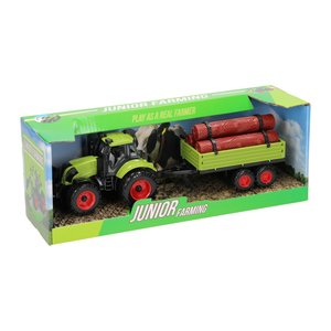 Tractor met Aanhanger - Boomstammen