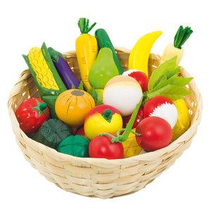 Groenten en Fruit in een Mand, 23dlg.