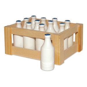 Melkfles set van 12 in kist