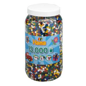 Hama Strijkkralen in Pot - Primair Mix (066), 13.000st.