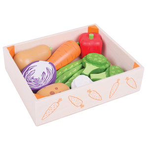 Houten Kistje met Groenten