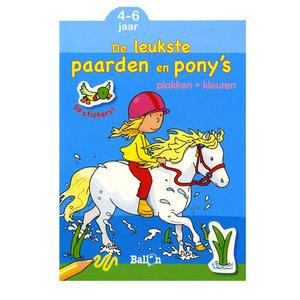 Plakken en Kleuren - De leukste Paarden en Pony's, 4-6 jaar