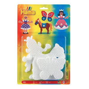 Hama Strijkkralenbordjes - Prinses, Paard, Vlinder