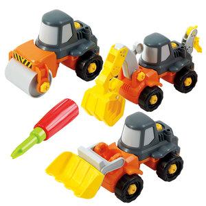 Playgo Constructieset - Werkvoertuigen